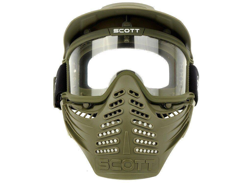 Double Layer Lens Sports airsoft paintball CS Anti fog bulletproof goggle full face mask visor