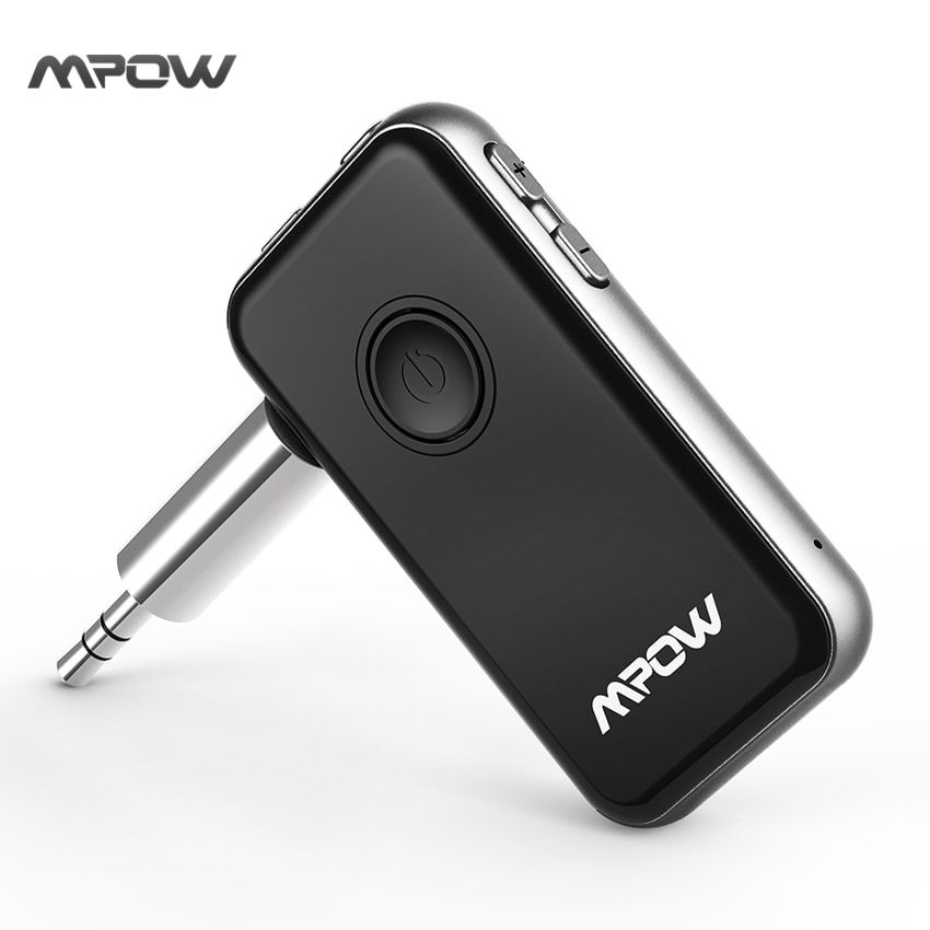 Mpow Bluetooth Transmitter & Receiver 3.5mm Audio Cable 2-in-1 Wireless Adapter for Headphone Speaker TV PC Car Stereos MP3 MP4