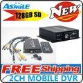 Mini Mobile Portable Car/Bus Black Box DVR 2CH Mini Car Vehicle DVR Video Recorder CCTV
