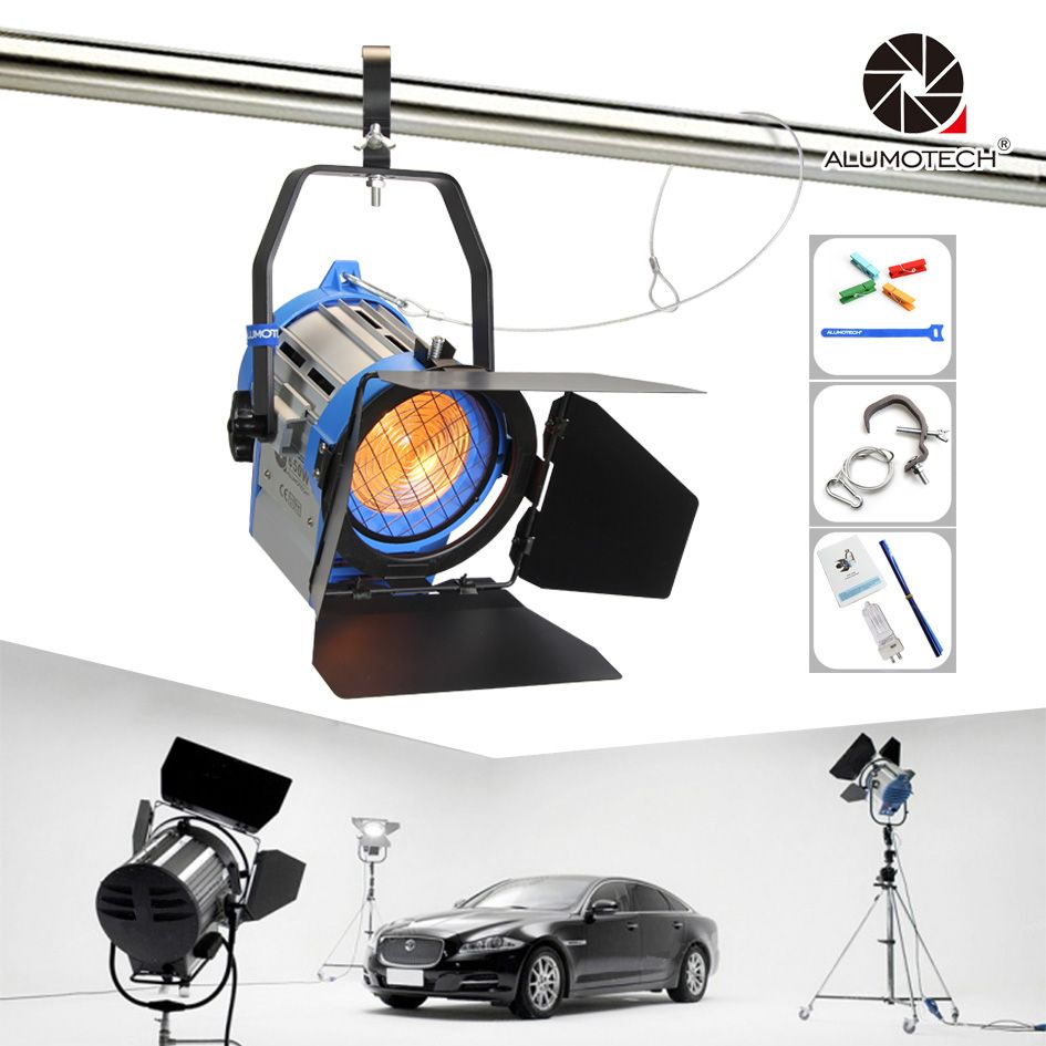 ALUMOTECH Pro As ARRI 650W Tungsten Spot light + Dimmer Built-in+ globes Lighting for cam