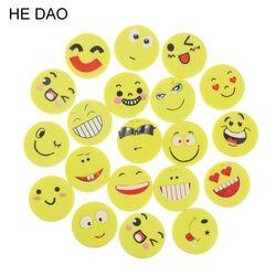 20 Pcs/lot Mini Cute Cartoon Kawaii Rubber Smile Face Eraser For Kids Gift School Supplies Korean Papelaria