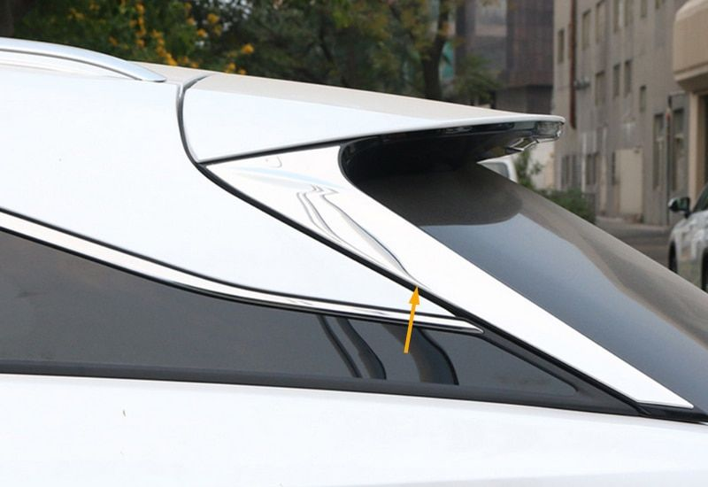 Chromed ABS Plastic 2PCS Rear Window Side Triangle Cover Trim For LEXUS RX200T RX450H 2016