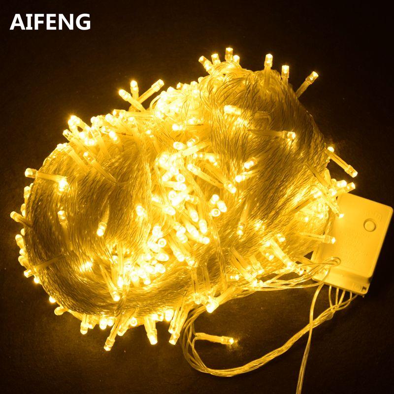 AIFENG außen lichterketten für weihnachtsbaum 100 mt 50 mt 30 mt 20 mt 10 mt 5 mt 220 v 110 v fairy light led lichterkette weihnachtsbeleuchtung