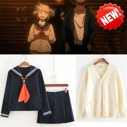 Anime Mein Hero Wissenschaft Boku keine Hero Wissenschaft Himiko Toga JK Uniform Röcke Pullover Sweatshirts Strickjacke Cosplay Kostüme Anzug