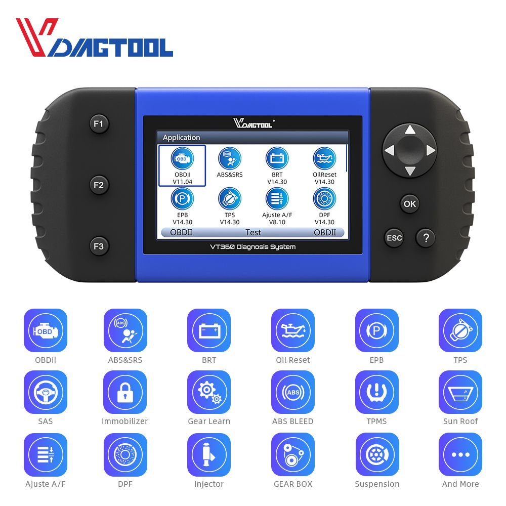 VDIAGTOOL VT600 OBD2 Automotive Scanner Tool Motor ABS SRS EPB Öl Service Reset Injektor Codierung OBDII Auto Diagnose