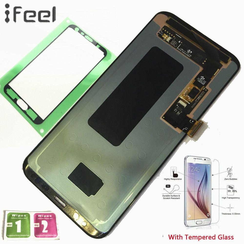 IFEEL 100% Tested For Samsung Galaxy S8+ S8 Plus G955 G955F G955A LCD Display Touch Screen Digitizer With Frame Super AMOLED