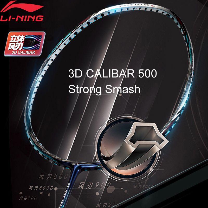 Li-Ning 3D CALIBAR 500 Badminton Schläger Festigkeit Offensive Typ Einzigen Sport Schläger Keine String AYPM388 ZYF306
