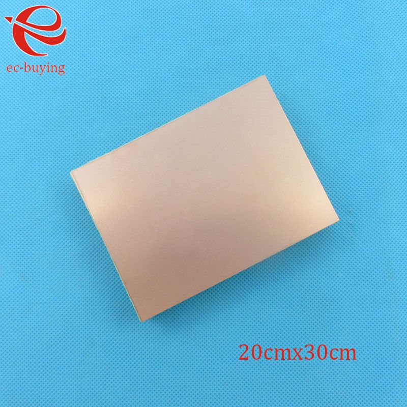 Copper Clad Laminate One Single Side Plate CCL 20x30cm 1.5mm FR-4 Universal Board Practice PCB DIY Kit 200*300*1.5mm