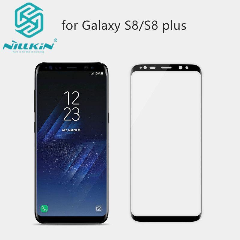 NILLKIN Erstaunlich 3D CP + MAX Nanometer Anti-Explosion 9 H Hartglas Displayschutzfolie Für Samsung Galaxy S8/S8 plus Glas film