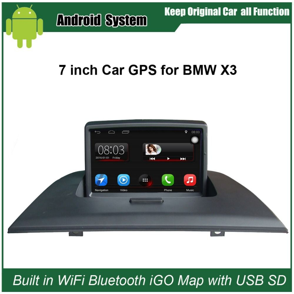Upgraded Original Car Radio Player Suit to BMW X3 E83 2004-2010 Car Video Player Built in WiFi GPS Navigation Bluetooth