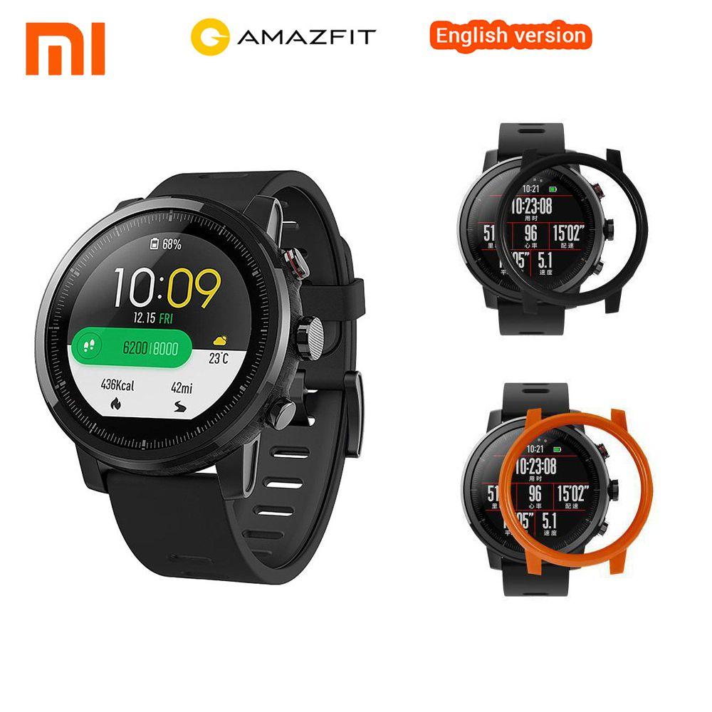 Englisch Xiaomi Smart Uhr Xiaomi Huami Amazfit Stratos Smart Sport Uhr 2 GPS PPG 5ATM Wasserdichte Smartwatch Für iOS Android