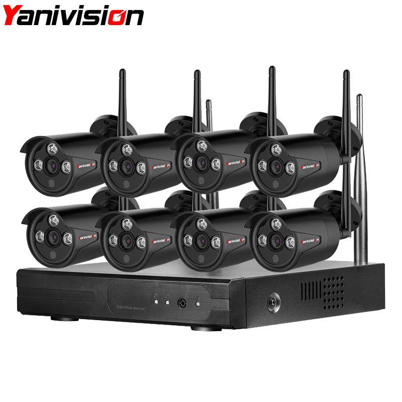 Wifi NVR Surveillance Kit Stecker Spielen P2P 8CH 2MP HD 1080 P 20 m Nachtsicht Wasserdichte Outdoor Wireless DVR kamera CCTV Set