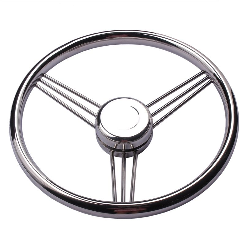 2017 New arrival Boat accessories  Steering Wheel Stainless Steel 9 Spoke Knurling 13-1/2'' For Marine Yacht