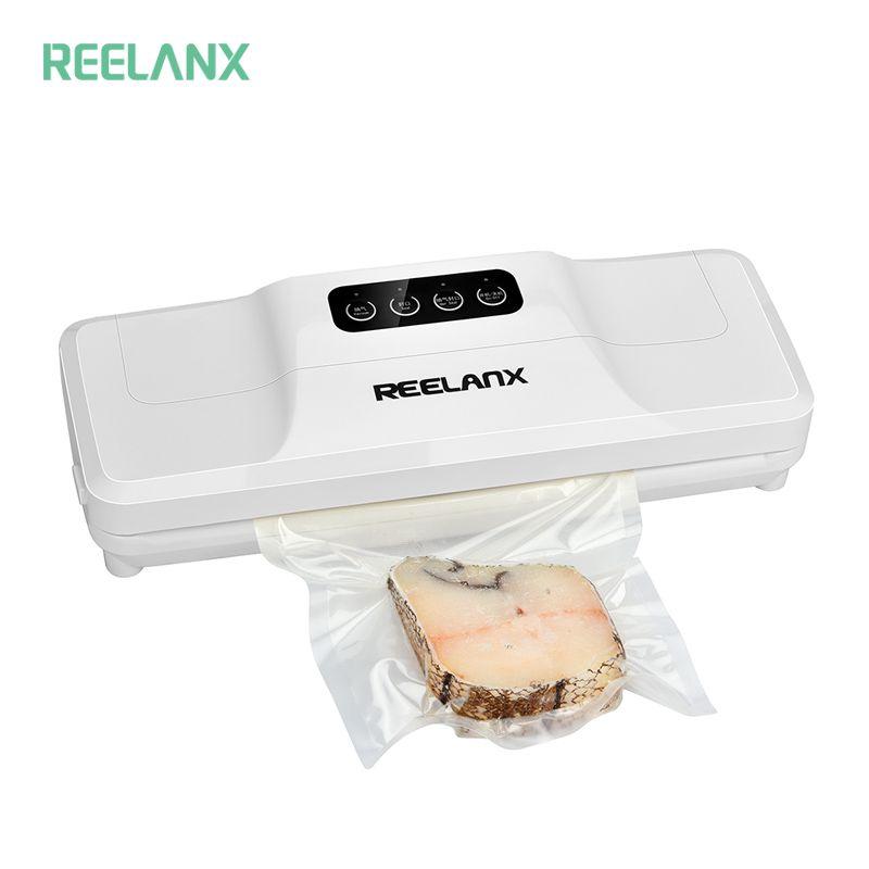 REELANX scelleur sous vide 160 W Machine à emballer sous vide automatique pour la nourriture avec 15 pièces sacs meilleur emballage d'emballage sous vide