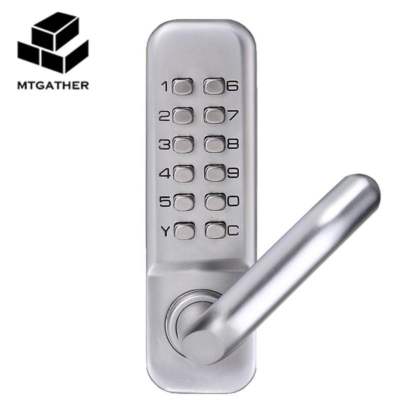 MTGATHER Mechanische Türschlösser Keyless Digitale Maschinen Code Keypad Passwort Eintrag Türschloss 141x43x26mm Zink legierung
