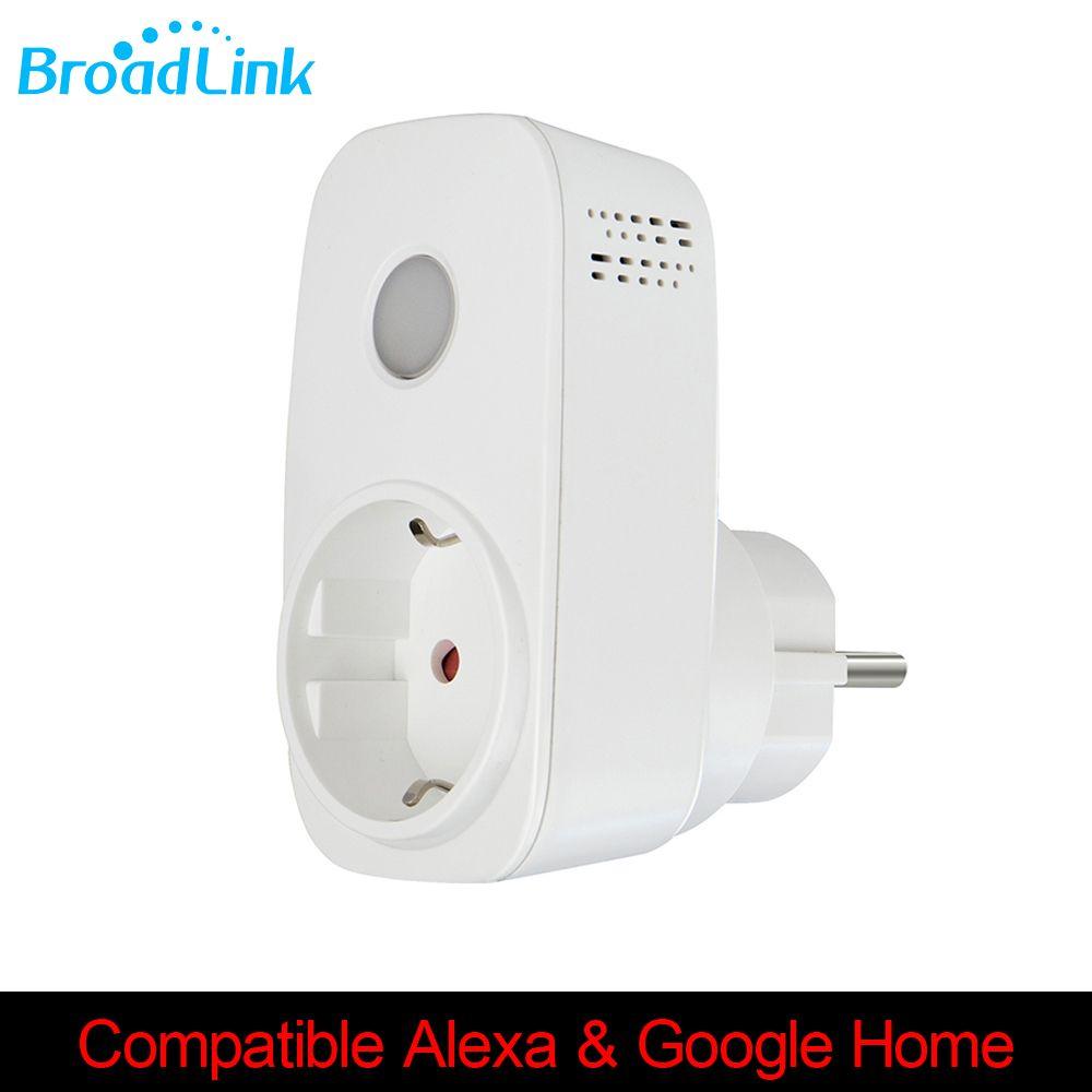Prise de courant intelligente Broadlink Sp3 prise de minuterie sans fil prise Wifi Compatible Alexa Google Home mini pour Smartphone Apple Xiaomi