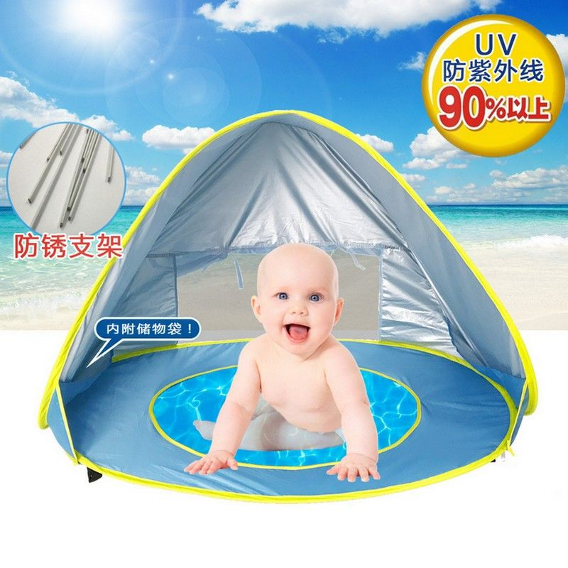 Baby beach <font><b>tent</b></font> uv-protecting sunshelter with a pool waterproof pop up awning <font><b>tent</b></font> kid outdoor camping sunshade beach dropship