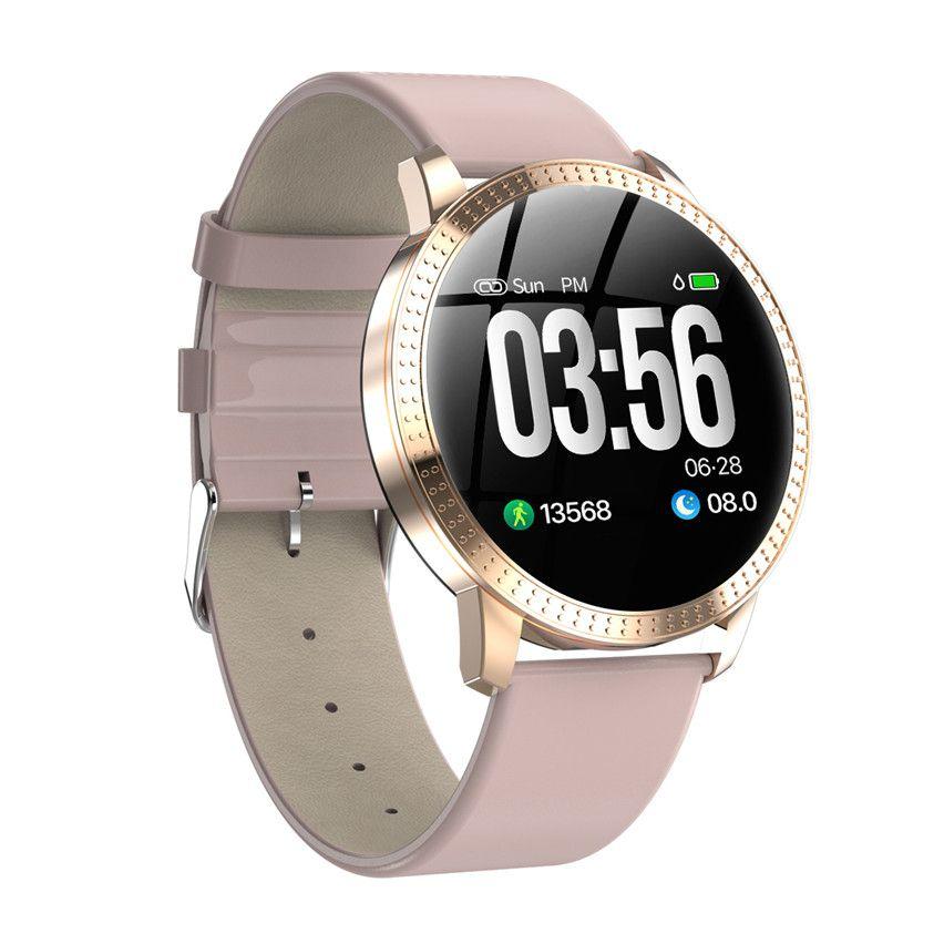 Montre intelligente VS V11 Q8 P68 étanche verre trempé activité Fitness tracker moniteur de fréquence cardiaque bord hommes femmes smartwatch CF18