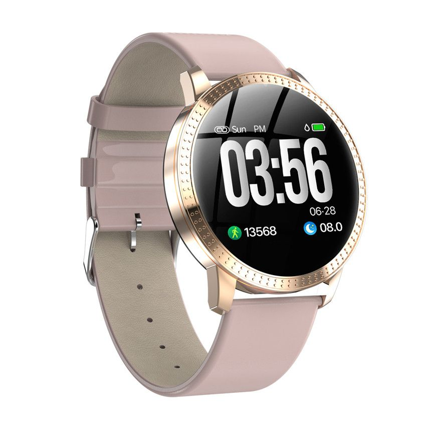 Smart watch VS V11 Q8 P68 waterproof Tempered glass Activity Fitness tracker Heart rate monitor BRIM Men women smartwatch CF18