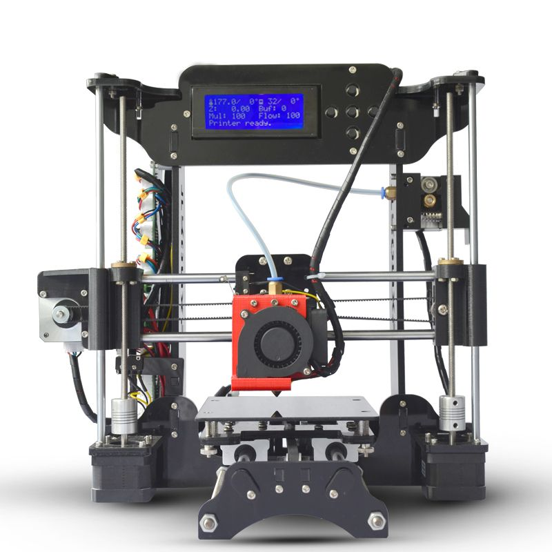 Simple Tronxy XY100 machine 3D Printer High Precision LCD Screen Extruder Printers education children DIY Kit 8G SD Card
