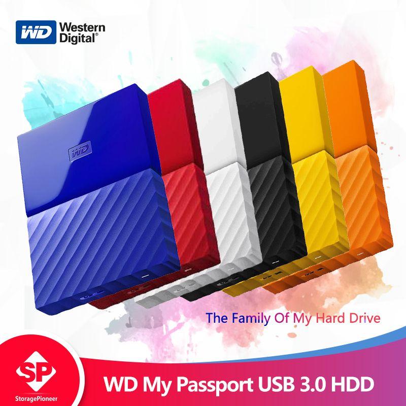Western Digital My Passport hdd 2,5 USB 3.0 SATA Tragbare HDD Lagerung Speicher Geräte Externe Festplatte Festplatte 1 tb 2 tb 4 tb