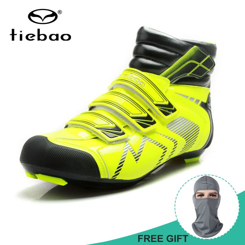 Tiebao Men Winter Warm Cycling Shoes Beathable Soft Road Bike Bicycle Boots Skidproof bicicleta Shoes Sapatos de ciclismo