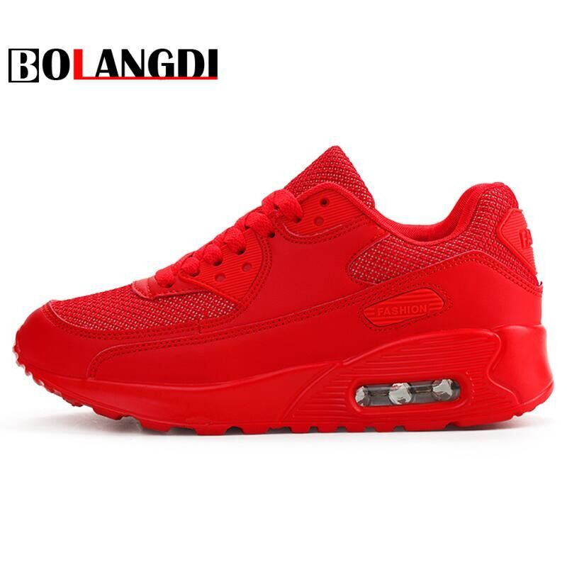 Bolangdi Air <font><b>Mesh</b></font> Women Men Lightweight Outdoor Sport Running Shoes Couples Breathable Soft Athletics Jogging Sport Sneaker Shoe