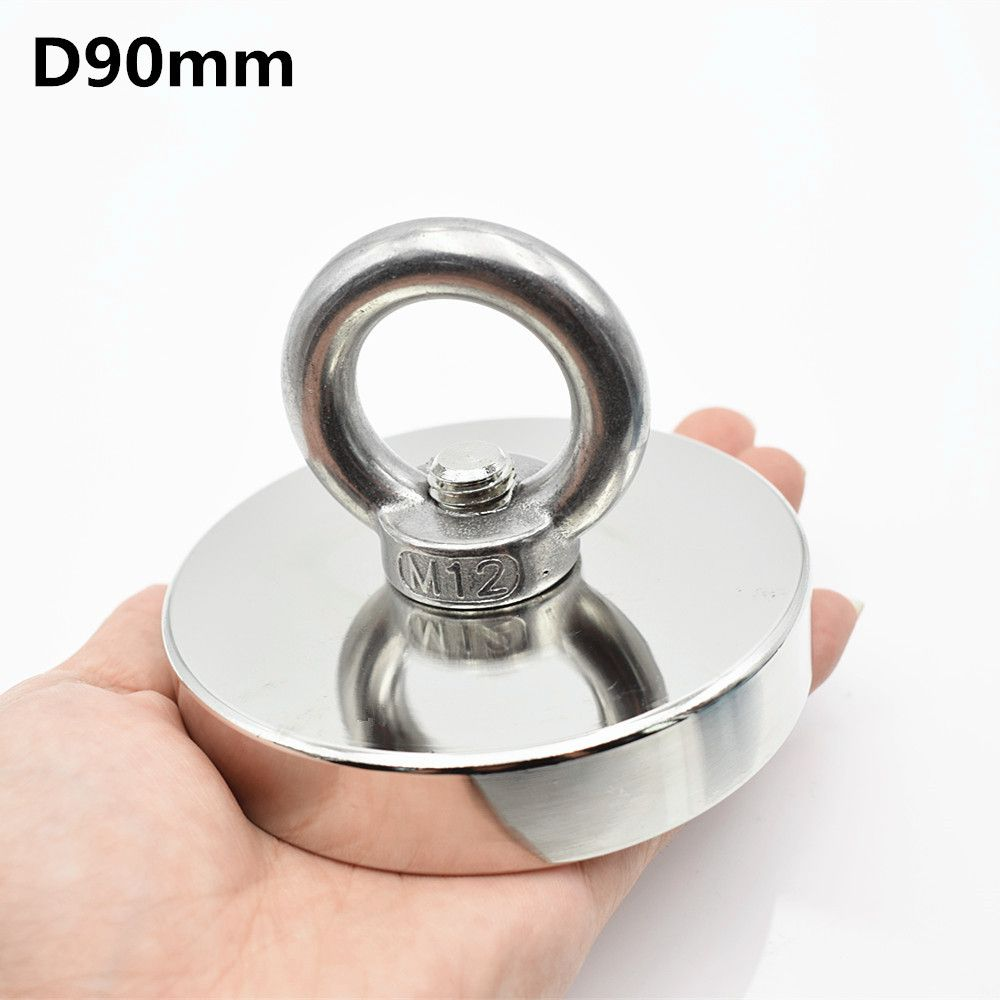 Neodymium magnet D90mm holder super powerful hole Circular ring salvage fishing magnet hook permanent deep sea Pulling Mounting
