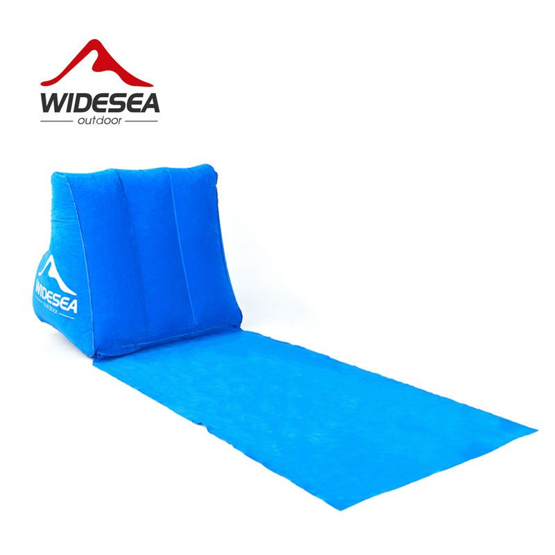 WIDESEA beach mat camping mattress beach lounger cushion with inflatable pillow foldable  beach chair camping travel air bed