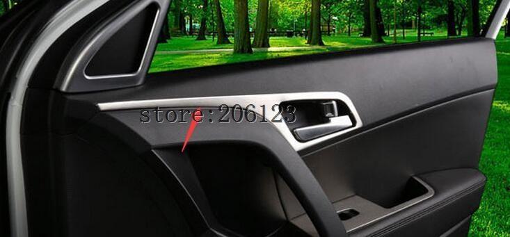 FIT FOR 2014-2017 For Hyundai ix25 (creta)   Matte Inner Side Door Handle Bowl Cover 4 pcs /set
