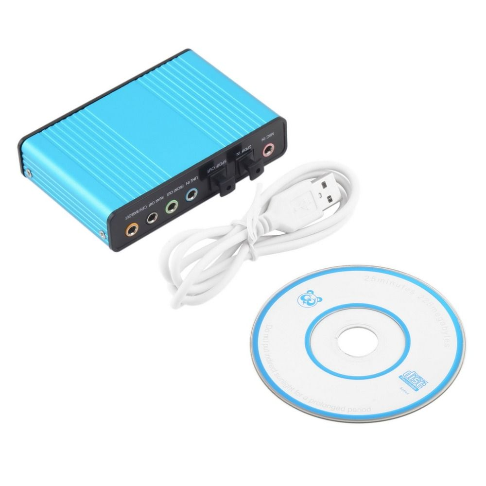 USB 6 Channel 5.1 Audio External Optical Sound Card Adapter For PC Laptop Skype High Quality