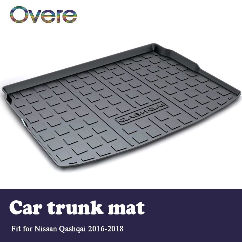 Overe 1Set Car Cargo rear trunk mat For Nissan Qashqai 2016 2017 2018 Car-styling Boot Tray Waterproof Anti-slip mat Accessories