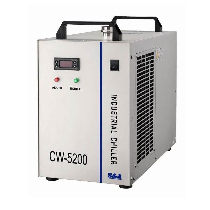 Russland freies steuer wasserkühler CW 5200AH Chiller cnc maschine teile Für CNC Spindel Kühlung Laser Rohr 130 watt 150 watt