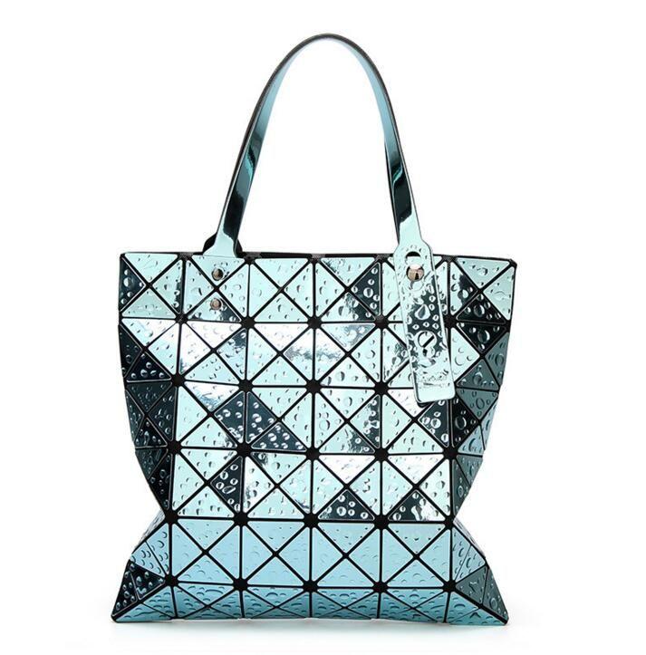 2018 Japan Bao 6*6 Bag Women's Geometric handbag Fashion Drops of water Style PRISM BASIC Totes bao Hologram Cube Shoulder Bags