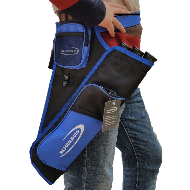 3 Rohre Blue Arrow Halter Köcher Tasche Zurück Köcher Für Targetting Outdoor Jagd