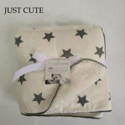 JUSTE MIGNON Bébé de Bande Dessinée couvertures épaissir double couche polaire infantile enveloppe poussette wrap pour nouveau-né bébé literie couverture