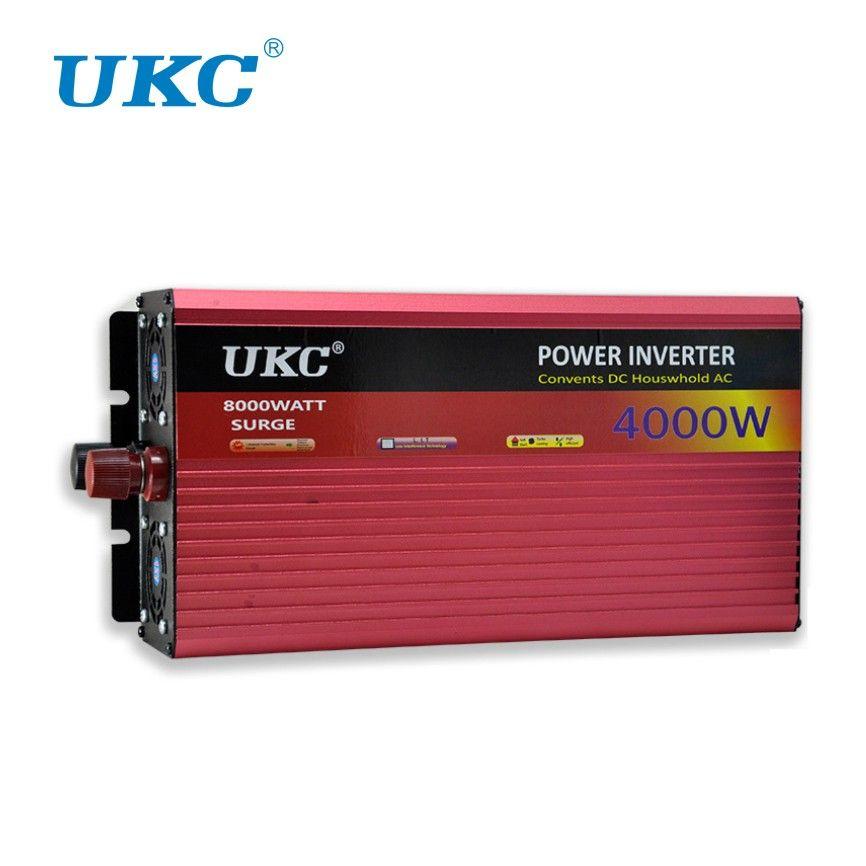 UKC 2000W <font><b>3000W</b></font> 4000W Car Power Inverter Voltage Converter With Cigarette lighter DC 12V AC 220V Transformer USB Charger Adapter