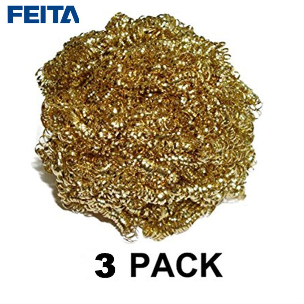 FEITA 3pcs/pack 599-029 Soldering Solder Iron Tip Cleaner Cleaning Wire Sponge Balls For clean solder tips