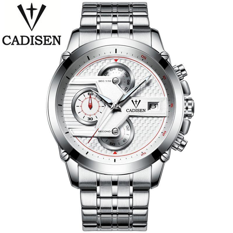 CADISEN Men Business Quartz Watch Luxury Brand Men Waterproof Leisure Sport Automatic Date Clock Relogio Masculino Fashion reloj