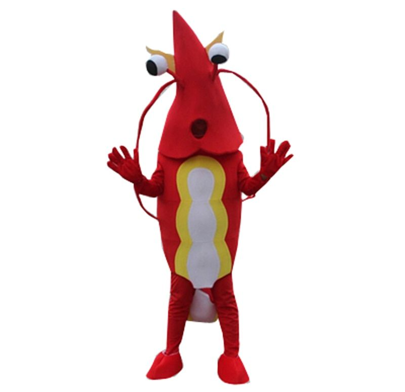 Shrimp Mascot Costume Lobster Langouste Crawfish Cartoon Cosplay Dress Halloween Fancy Party Character