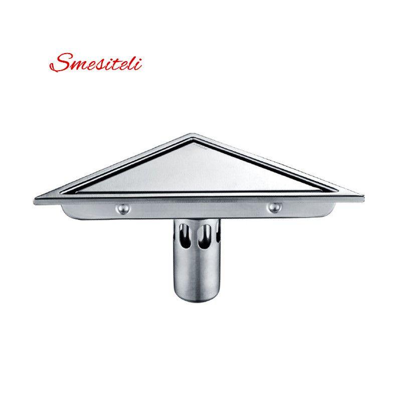 Nouveau Type caché Triangle carrelage insérer grilles de déchets de sol Drain de douche SUS304 en acier inoxydable Drain de sol accessoires de salle de bain
