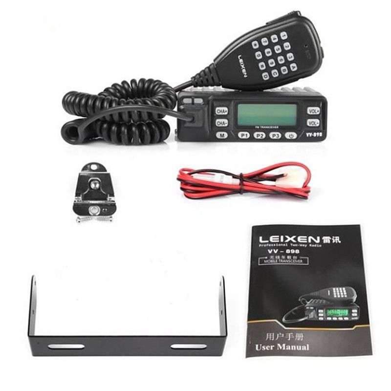 100% Original LEIXEN VV-898 Car Radio Two Way Radio 10W UHF/VHF Ham Radio Mobile Transceiver Woki Toki