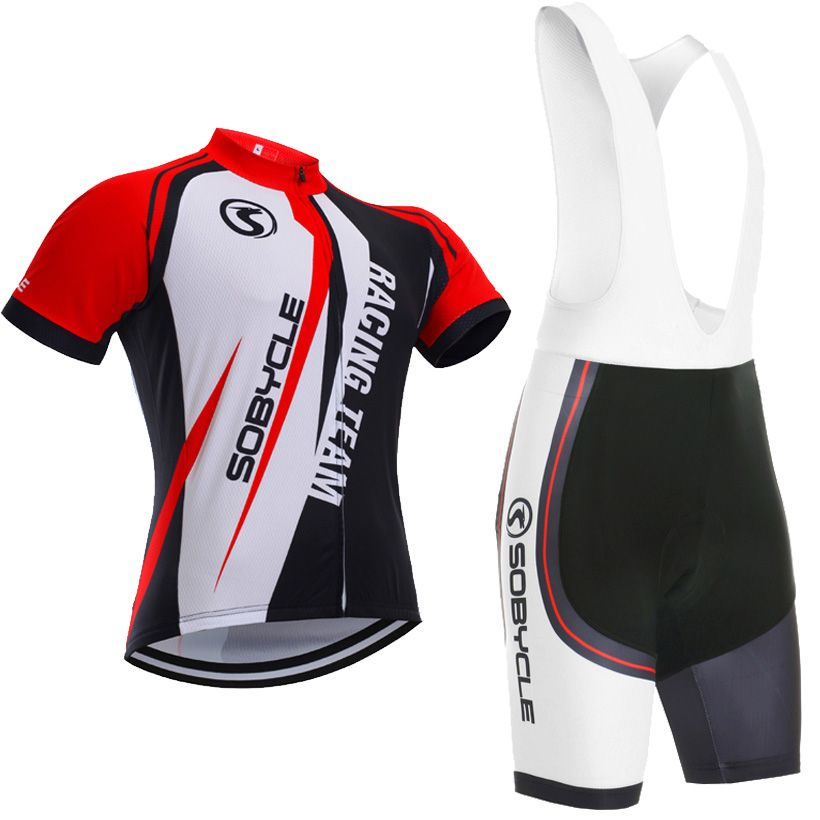 Racing Team Sobycle brand team pro cycling jersey 9D gel pad bike shorts set Ropa Ciclismo summer bicycling Maillot wear