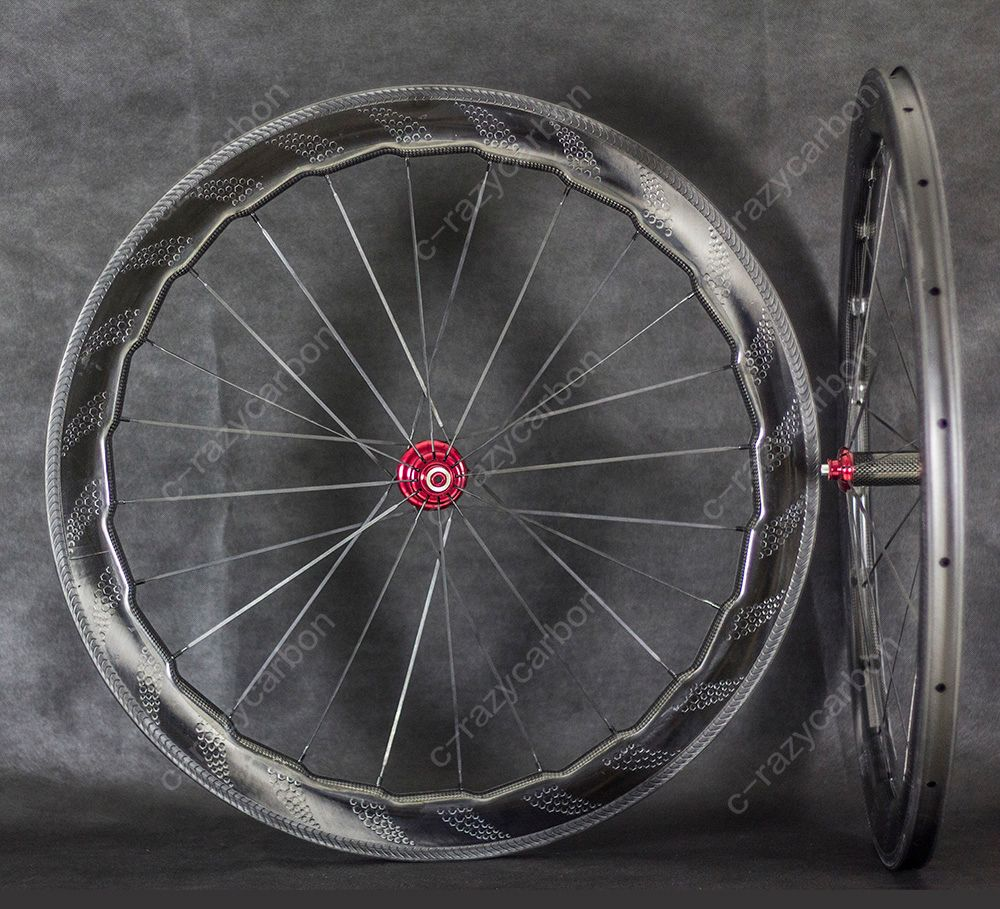 New Road 454 Dimple Carbon Wheels Clincher Wheel 700C with Special Brake Surface