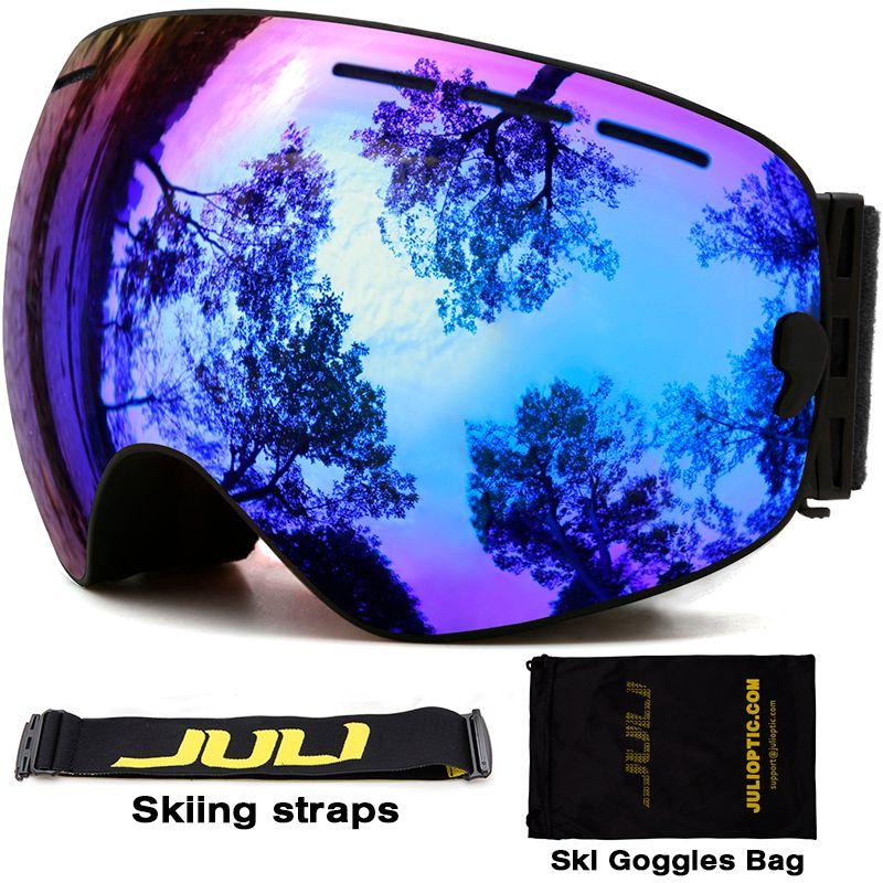 Ski goggles,JULI Brand Double Layers UV400 Anti-fog Protection Ski Mask Glasses Skiing Men Women Snow Sports Snowboard Goggles
