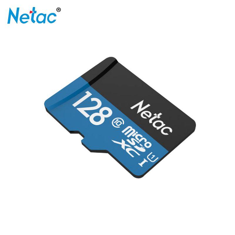 Schwarz/Blau Micro Sd-karte 128 GB Netac Speicherkarte 128 gb Trans Flash Card Class 10 TF Karte für Telefon Tablet Kostenloser verschiffen