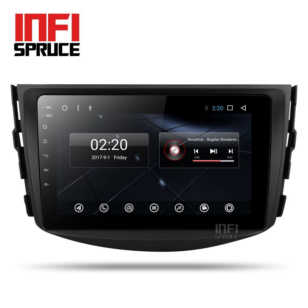 Auto DVD-Player für toyota rav4 2007 2008 2009 2010 2011 auto GPS 8-core Android 7.1-Navigation Multimedia Radio Bluetoot