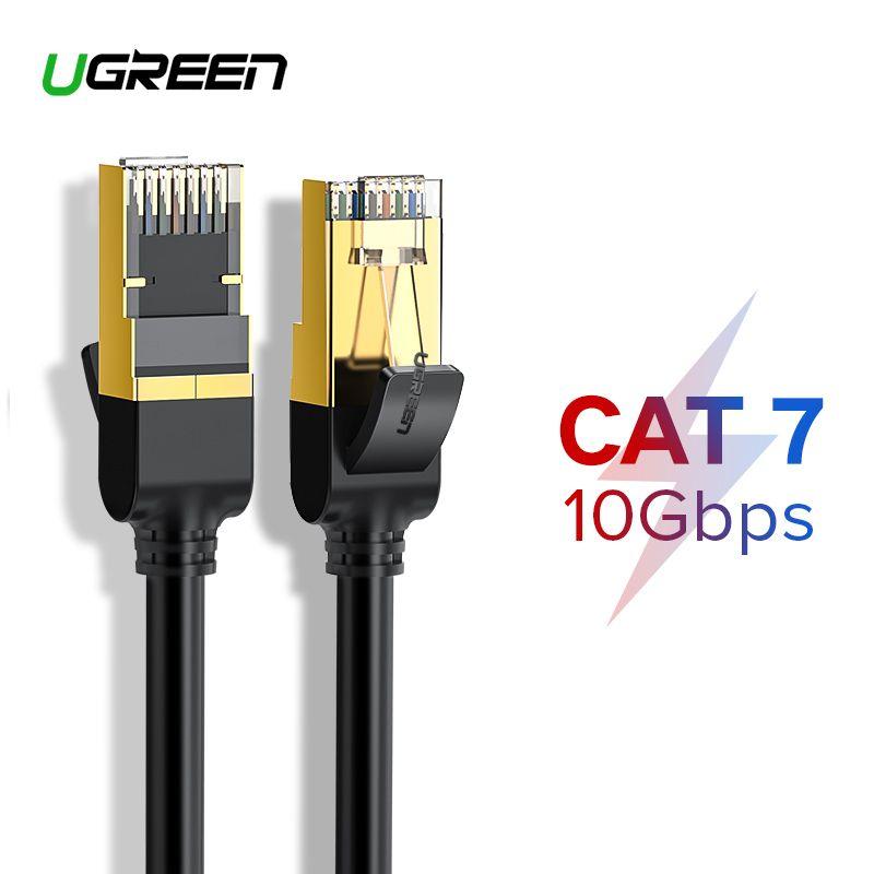 Ugreen Cat7 Ethernet Kabel RJ 45 Netzwerk Kabel UTP Lan-kabel Katze 7 RJ45 Patchkabel 10 mt/20 mt/30 mt für Router Laptop Kabel Ethernet