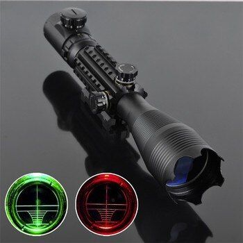 4-16x50EG Riflescope Railed Hunting Optical Telescopic Sight Scope with Rail mount for Tactical Shooting Airsoft Gun Weapons