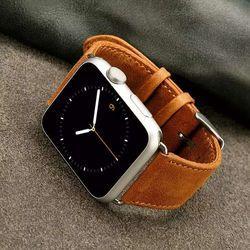 Série 4/3/2/1 band para apple watch strap banda pulseira de couro genuíno couro de cavalo louco para iwatch pulseira 44 40 38mm mm mm